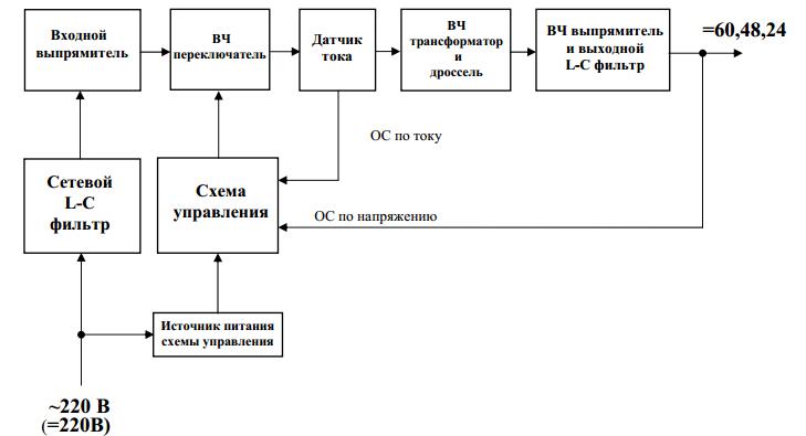 Схема конвертера напряжения